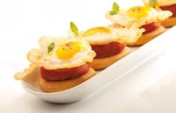 Quely Tapas de sobrassada amb ous fregits de guàtlera