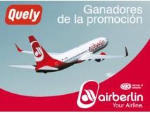 Gagnants de la promotion de Quely et Airberlin